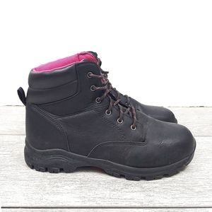 Brahma Womens 10 Blk Bevel Steel Toe Work Boot
